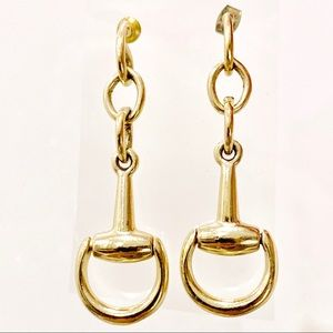 Gold Horsebit Drop & Dangle Earrings